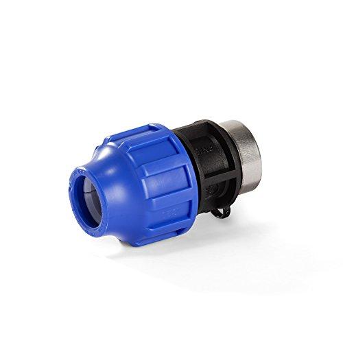 """H2O-Flex PP-Fitting, Klemmverbinder - 25er PE Adapter mit 3/4"""" Innengewinde, 25 mm, DVGW"""