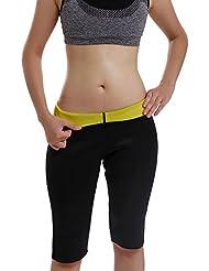 Gotoly Frauen Derhosen Hot Thermal Neopren Sweat Sauna Yoga Body Shaper Hosen