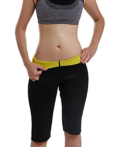 Gotoly Frauen Derhosen Hot Thermal Neopren Sweat Sauna Yoga Body Shaper Hosen (M:Für Hüftumfang 93-100 CM, (Power Body Shaper)