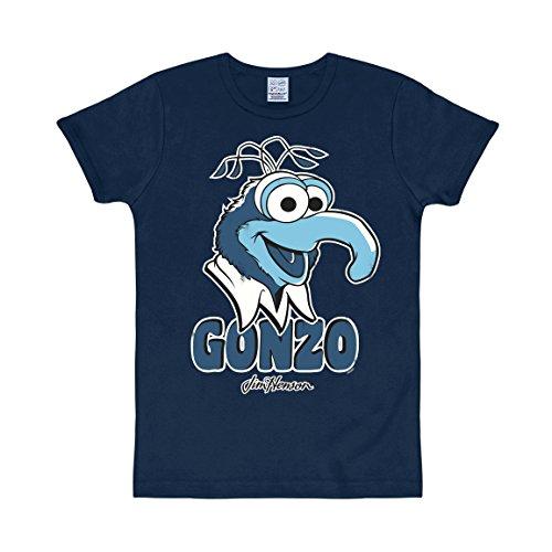 izeithemd Muppets-Gonzo, Blau (Navy), X-Small (Herren Gonzo Kostüme)