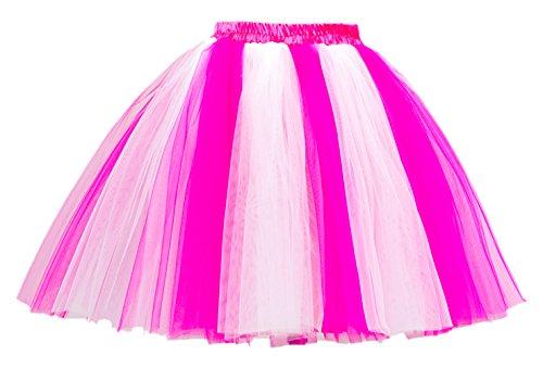 Honeystore Damen's Mini Tutu Ballett Mehrschichtige Rüschen Unterkleid -