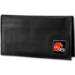 NFL Cleveland Browns Deluxe Leather Checkbook Cover