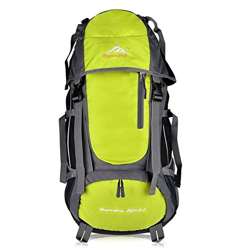 Imagen de macbag  de excursión resistente al agua daypack 40l 55l para camping, trekking y escalada amarillo, 55l