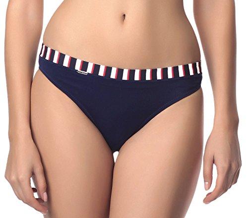 Antie Damen Bikini Slip Cancum (Navy/Weiß/Rot, 36) (Rot Weiß Blauen Kostüm)