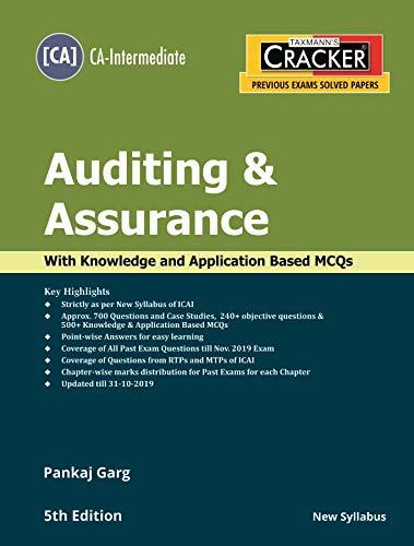 Taxmanns Cracker-Auditing & Assurance (CA-Intermediate-New ...