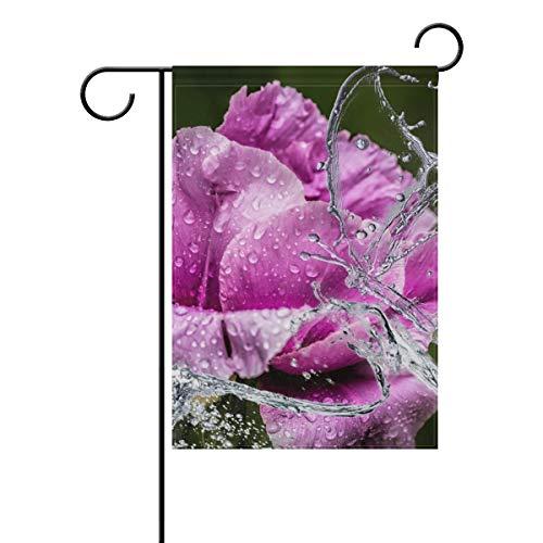 Lennel Drapeau de Jardin décoratif pour Maison Motif Pivoine, coloré, 28x40(in)