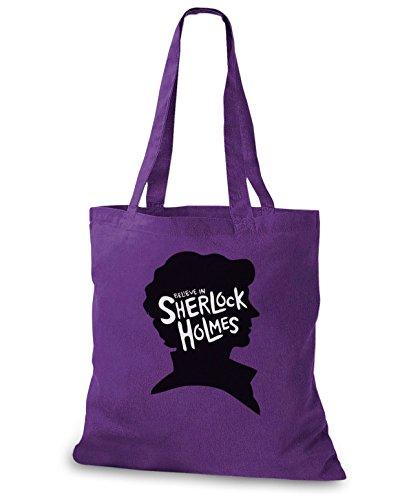 Stylobags Jutebeutel / Tasche Credo Nello Sherlock Holmes Lila