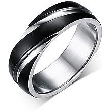 LaLopez de titanio de acero de la tela cruzada Herren Damen anillo de estilo simple