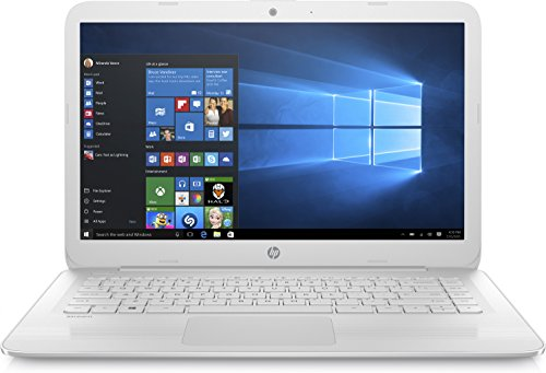 "HP Stream 14-ax007ns - Ordenador portátil de 14"" HD (Intel Celeron N3060, 4 GB RAM, 64 GB eMMC, Intel HD Graphics 400, Windows 10); Blanco nieve - teclado QWERTY español"