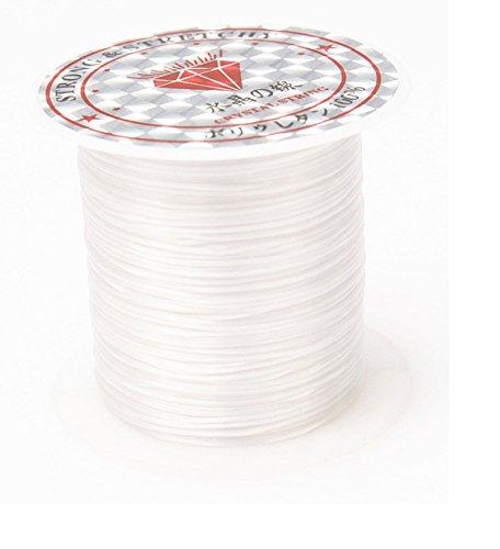 1 Rolle/10M elastisch Schmuckfaden Gummifaden Faden 1mm