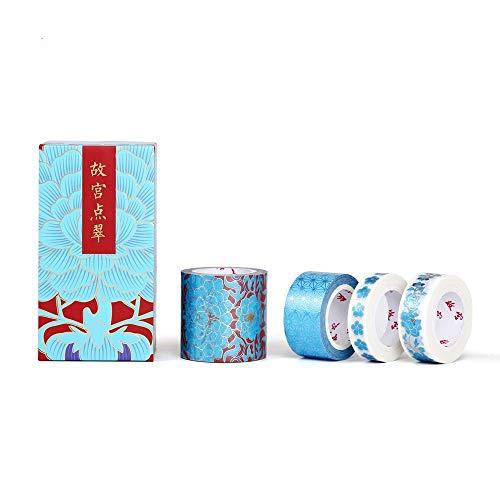 MOZHIYAN Tape 1 Stück 2cmx5m Verbotene Stadt und Papierband Verpackung Anzug alten Stil chinesischen Wind Hand Konto Konto geschrieben Lippenstift dekorative Aufkleber