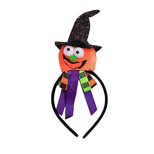 Quaan niedlich kreativ Halloween Stirnband Kürbis Kopfbedeckungen Stirnband Haar Zubehörteil zum Halloween Feier Party Süßigkeiten Kinder Dekor Geschenke Festival Dekorationen