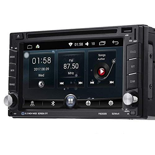 Doble din LESHP Radio navegador GPS para coche Android 6.0 Blutooth WIFI con 6.2 ' Pantalla táctil HD FM / AM / RDS / DVD reproductor multimedia / USB / SD / 3G Quad Core 1G DDR3 + 16G