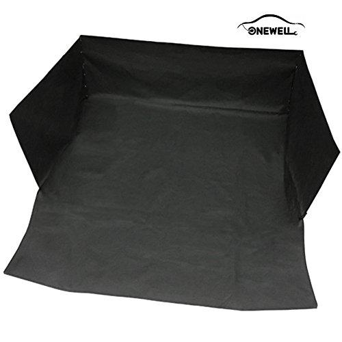 Onewell Pet Sitzbezug Schwarz Wasserdicht Waschbar Non Slip Backing Organizer für Autos, SUV, VansTrucks (Organizer Pet)