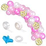 TUPARKA 113 Pezzi Kit Ghirlanda di Palloncini Rosa Palloncino Arco Kit per Baby Shower Decorazioni di Compleanno Festa di Compleanno (Bianco, Rosa, Rosa Chiaro, Oro)