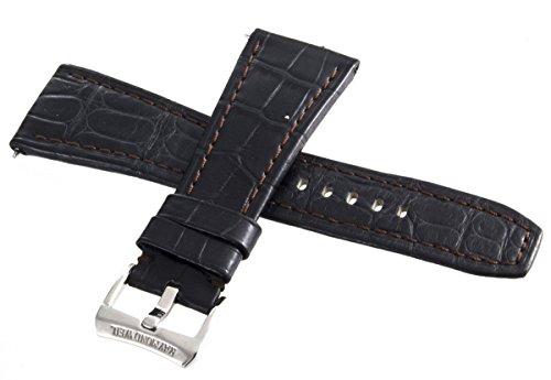 Raymond Weil Geneve Giovanni Uhrenarmband dunkelbraun Leder 26mm