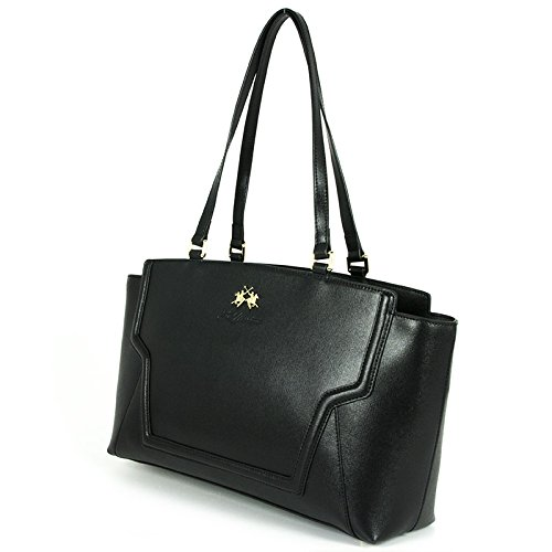 BORSA LA MARTINA LA PORTENA SHOPPING BAG 243 007 (NERO) schwarz
