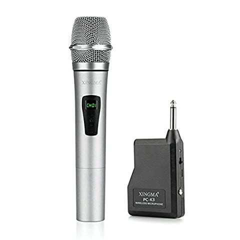 GuDoQi® Professional Handheld Wireless Microphone With VHF Condenser With Wireless Receiver Metal LCD Mic For Karaoke KTV