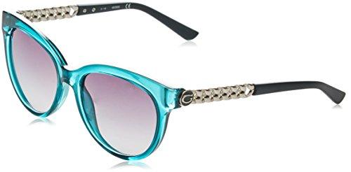 GUESS GF6004, Gafas de Sol para Mujer, Azul (BLU/Nero), 56