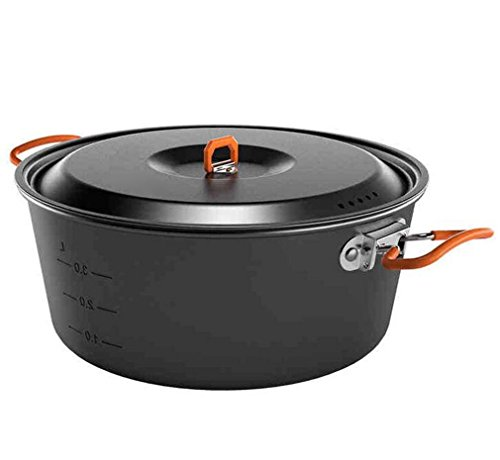 NUO-Z Camping Cookware, Outdoor Hiking Picnic Non-stick Cooking Backpacking Pot Pan