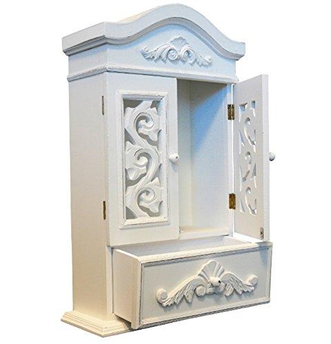 elbmöbel Hängeschrank mit zwei Holztüren Wandschrank Badschrank Medizinschrank kleine Kommode...