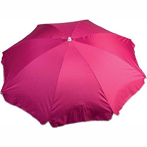 WDK Partner Sonnenschirm Durchmesser 180cm Polyester rosa, Sonnenschirm Durchmesser 180cm Polyester 10x 10x 105cm, gbbu-18081922pluvstp