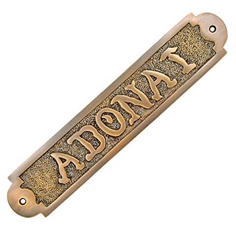 Adonai Hardware ADONAI Solid Brass Door Sign - Antique Brass
