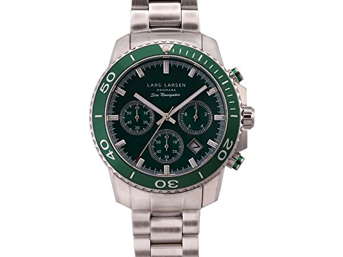Mens Lars Larsen Sea Navigator Chronograph Watch 134SBSB