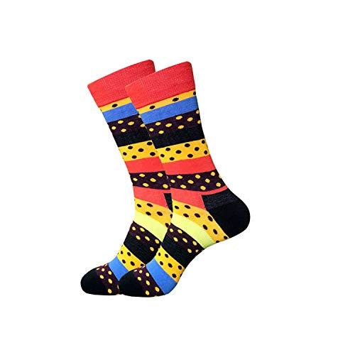 Eanijoy Lustige lässige Baumwollsocken, Crew Socke,New Arrival Cotton Men Crew Socks Pizza Hamburger Cactus Pattern Hip Hop British Style Casual Harajuku Designer Brand Novelty 11 One Size