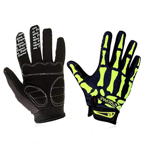 Qianliuk Outdoor Radfahren Motorrad Handschuhe Vollfinger Winddicht Moto Motocross Handschuh Off-Road Motorrad Racing Protect Gloves