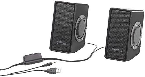 auvisio Computerboxen: Stereo-Lautsprecher mit passivem Subwoofer & USB-Stromversorgung, 15 W (Boxen für PC) -