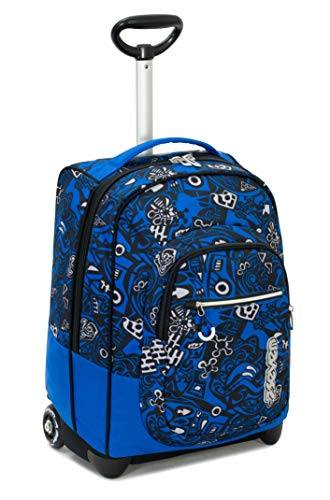 Trolley fit seven noongar, blu, 35 lt, 2in1  zaino con sollevamento spallacci per uso trolley, scuola & viaggio