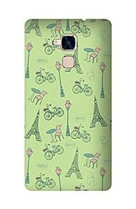 ZAPCASE Printed Back Cover for Huawei Honor 5C