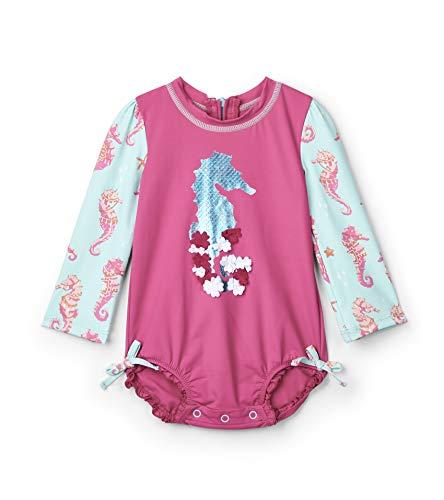 Hatley Rash Guard Swimsuits Traje de baño de una Pieza, Fantastical Sea Horses, Talla del Fabricante...