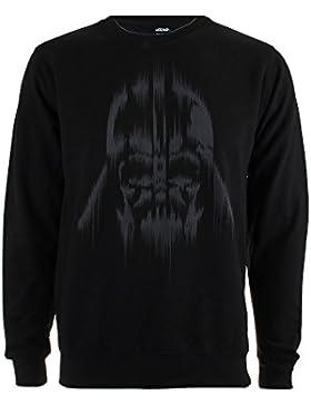 Hasbro Star Wars-Vader Lines-Mens-Crew Sweat-Black, Felpa Uomo