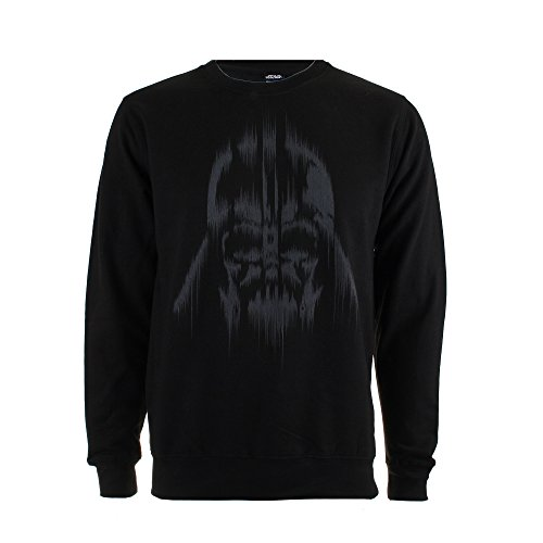 Star Wars Herren Sweatshirt Vader Lines-Mens-Crew Sweat-Black Schwarz (Schwarz)