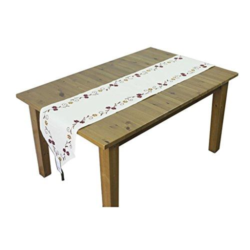 Chemin De Table Coton Et Lin Broderie Table À Manger Lit Drapeau Table Basse Lit Serviette Ruelle Moderne Simple Américain Table Runner (taille : 160 * 40cm)