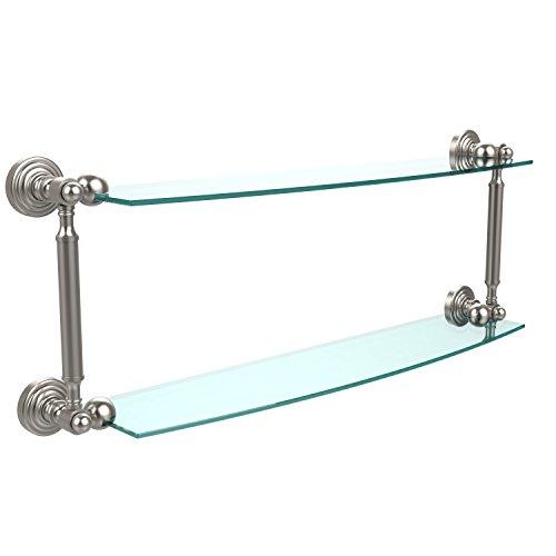 Allied Glass Badezimmer Regal (Allied Brass WP-34/24-CA 24 x 5 Double Glass Shelf Satin Chrome by Allied Brass)