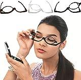 GKA Schminkbrille Schminkhilfe bei Sehbeeinträchtigung perfekt Schminken braun 1,5 Dioptrien