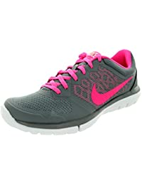 info for f6ccd 94834 Nike Flex 2015 Run Women Laufschuhe Cool Grey-Pink Pow-White - 42