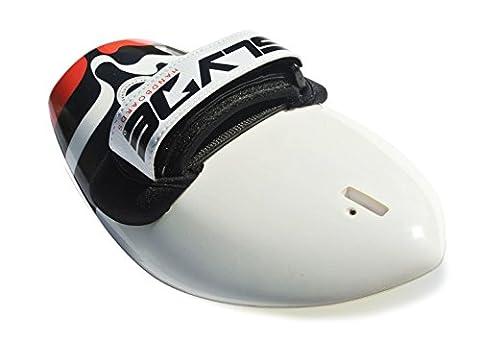 "Slyde handboards Hawaiian BULA ""Drip Shorebreak Specialty Surfen Körper Hand Board/handplane mit Kamera Befestigung, Herren, Carbon White"