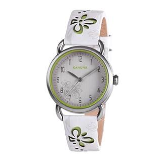Kahuna KLS-0251L – Reloj analógico de cuarzo para mujer con correa de piel, color blanco