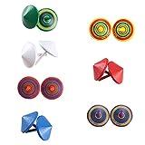 HO2NEL Bunte Spielzeug Kreisel aus Holz Farbenfroher Bemalung Spielzeugkreisel für Kinder Party Spielzeug 14 Stück