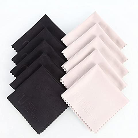 New Journey Microfiber Cleaning Cloths - For All LCD Screens, Tablets, Lenses, and Other Delicate Surfaces (5+5black)
