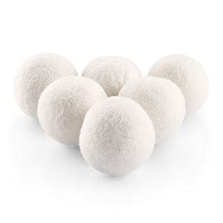 Cozzine Trocknerbälle für Wäschetrockner Bälle 6er Pack Filzbälle aus Schafwolle natürliche Weichspüler, die Wäsche Weniger Verknittert, umweltschonend, Zeit- und kostensparend