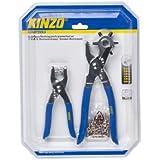 Kinzo - Sacabocados (2,5 - 5 mm, 102 piezas, 6 agujeros)