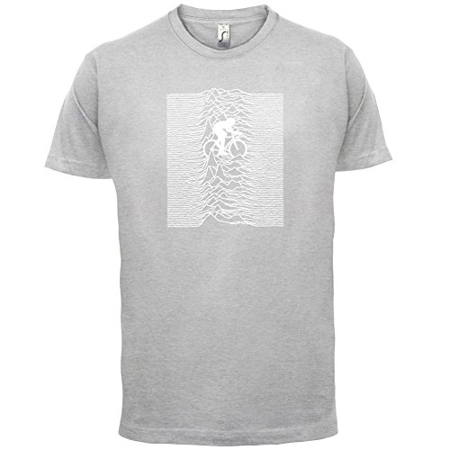 Unknown Pleasures Of Cycling - Herren T-Shirt - 13 Farben Hellgrau