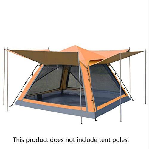 dongdada Outdoor Camping Tourist Zelt 4 Personen doppellagig wasserdicht Vier Türen Automatik Familie Party Strand Pavillon Zelt, a