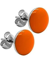 1 Paar Ohrstecker Ohr Ohrringe Glitzer Damen Modeschmuck Gelb Orange Türkis Pink