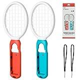 Tennis Racket für Nintendo Switch, Tennisschläger für N-Switch Joy-Con Controller, Zubehör für Switch Game Mario Tennis Aces - 2 Pack